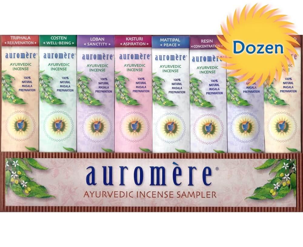 DOZEN Ayurvedic 8 Fragrance Sampler Pack